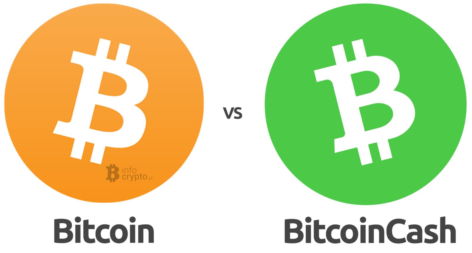 Porównanie Bitcoin z Bitcoin Cash