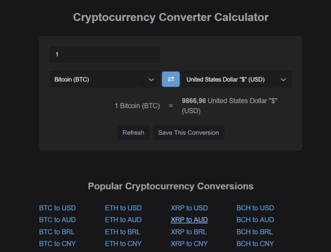 Kalkulator kryptowalut – Przelicznik Bitcoin